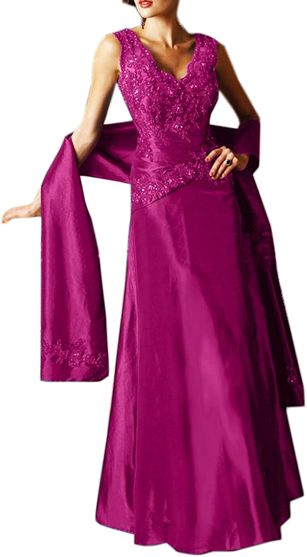 MILANO BRIDE Elegant Mother Of The Bride Dress Appliques VNeck Evening Prom Gown