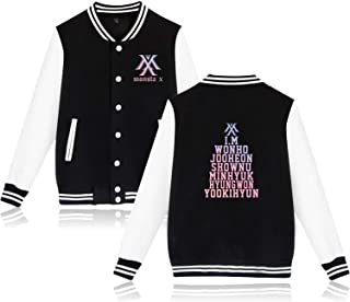 BOSON Monsta X Baseball Jacket Jooheon Kihyun IM Shownu Unisex Sweatshirt Coat