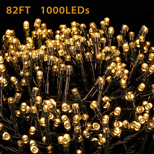 Novtech LED String Lights 82FT 1000 LEDs Christmas Lights - Indoor Outdoor Decorative Fairy Lights for Christmas Home Bedroom Garden Patio Wedding Party Holiday Halloween - Warm White