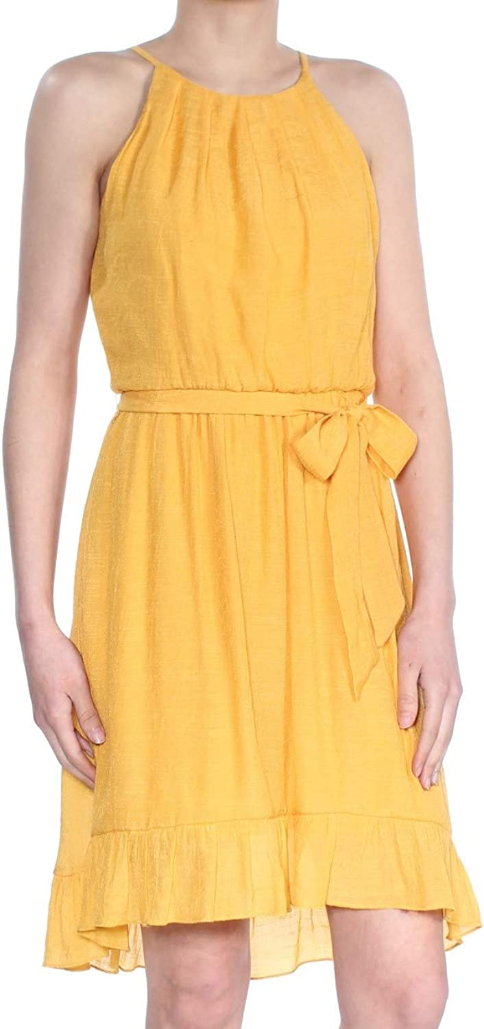 A. Byer Juniors Belted Ruffle Hem Sundress