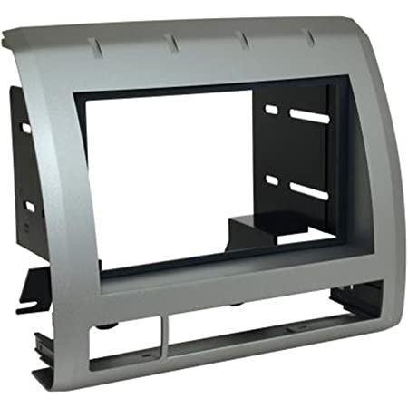 Scosche TA2053S9B Compatible with 2009-11 Toyota Tacoma ISO Double DIN Dash Kit, Light Metallic Silver