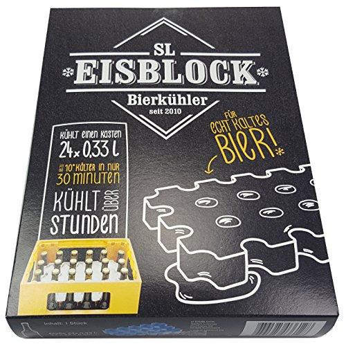 SL-Eisblock - Bierkühler Getränkekühler für 0,33 Liter Flaschen der sl-EISBLOCK Bierkastenkühler ist MADE IN GERMANY (Geschenkverpackung)