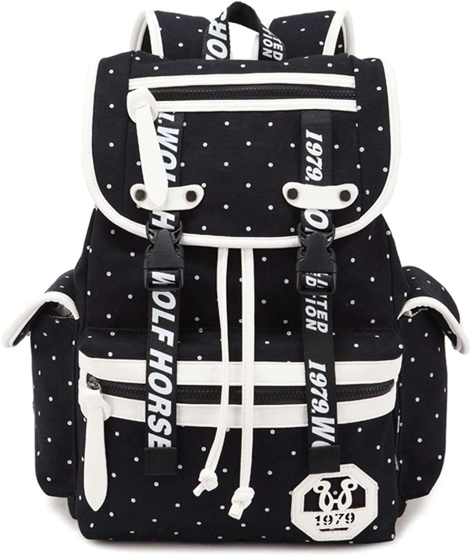 Leisure backpack ladies canvas shoulder bag College wind middle school bag boy Travel bagB