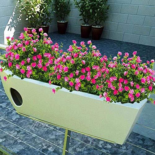 1 Bündel Künstlicher Plastik Blumenstrauß für Haupt Dekorations Pflanzenwand Garten Deko - 7