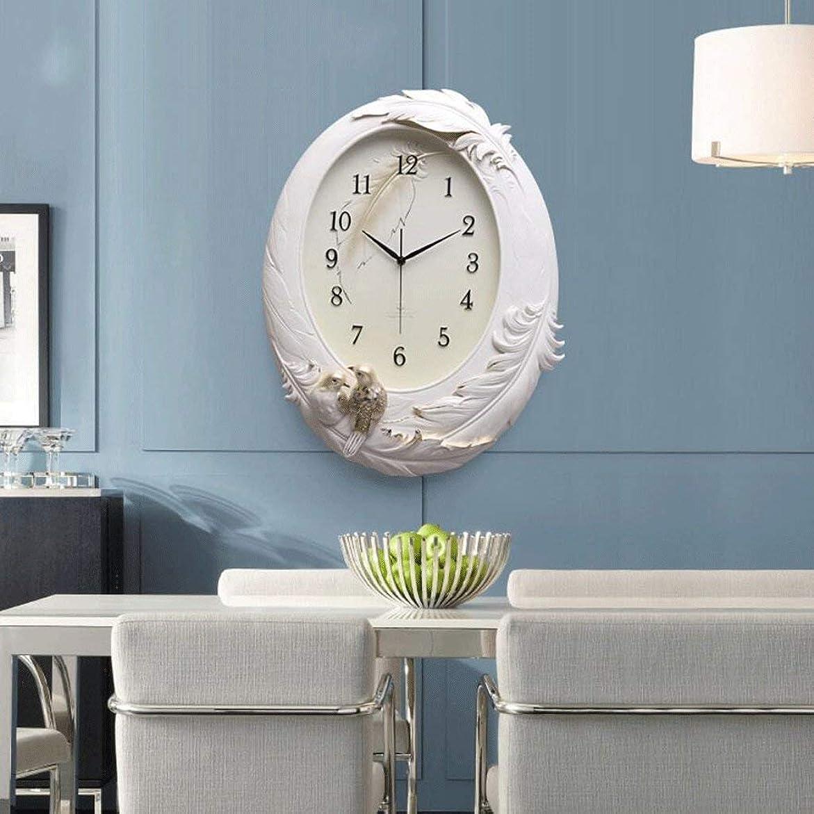 バブルハウジング小間Jundonglilai 壁時計時計ファッショナブルなアート壁時計リビングルーム現代のハイエンド3dクリエイティブ時計ミュート手描きヨーロッパ時計 (Color : B)