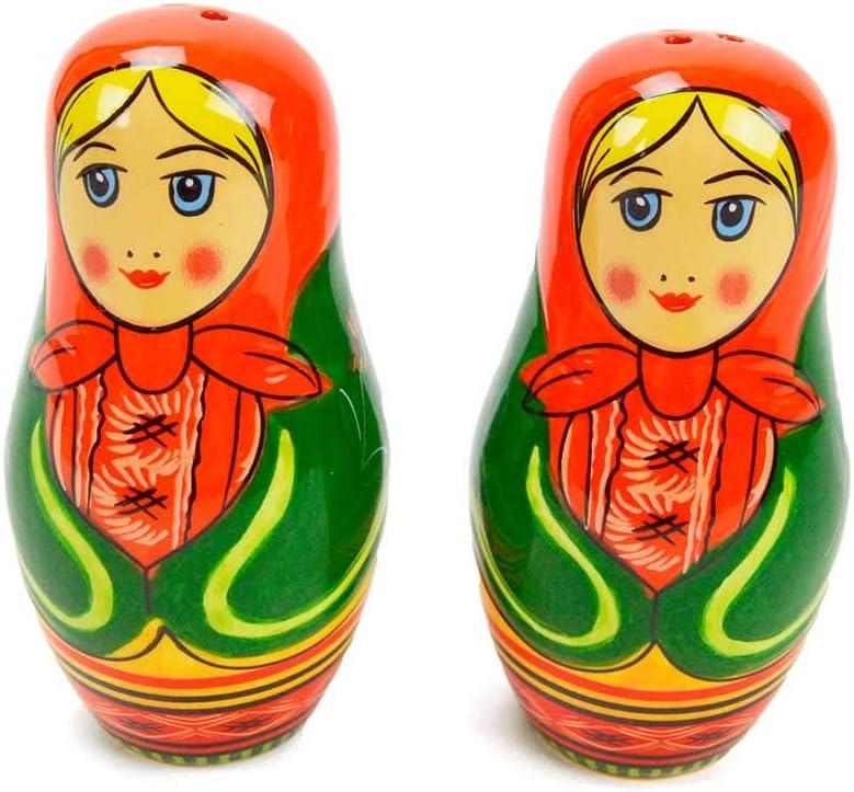 Matryoshka Russian doll jewelry set plug