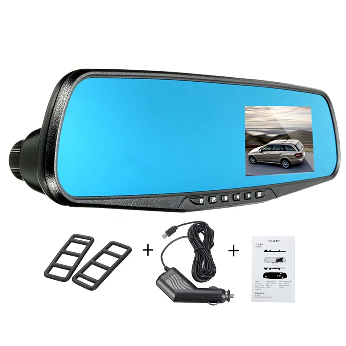 パールうめきその間Nerhaily バック鏡カメラビデオレコーダー ドライブレコーダー 車載ドライブレコーダー ビデオカメラ 2.8インチLCD 1080P ダッシュ フルHD Gセンサー モーション検知