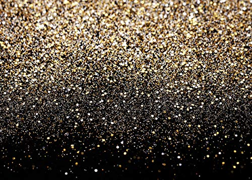 SJOLOON 10X8ft Glitter Backdrop Golden Spots Backdrop Vinyl Photography Backdrop Vintage Astract Glitter Background for Family Birthday Party Newborn Studio Props 11547