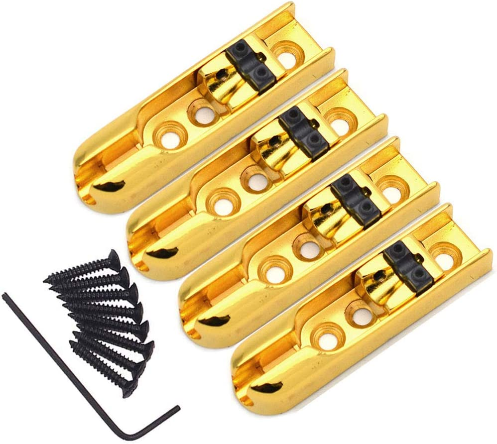 Ranking TOP14 Tzong 4Sets Gold Bargain sale Single String Guitar For Bass Electric G Bridge