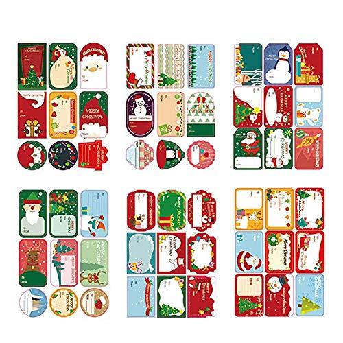 Etiquetas de Navidad autoadhesivas para regalo de Navidad, etiquetas de nombre para envolver etiquetas, 2 unidades