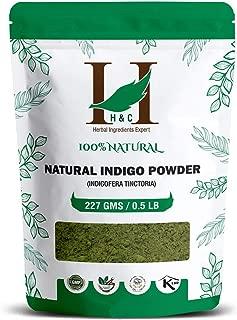 100% Natural Indigo Powder Organically Grown (227g / (1/2 lb) / 8 ounces)