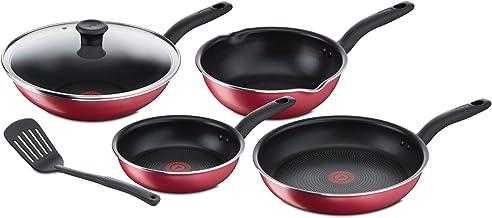 Tefal C572S5 So Non-Stick Pan Set, Red (6 Pieces)