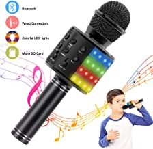 Verkstar Karaoke Microphone, Birthday Gift Toy for Kid Portable Wireless Bluetooth 4 in 1..