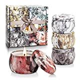 Yinuo Mirror Scented Candles Gift Set, Soy Wax 4.4oz...