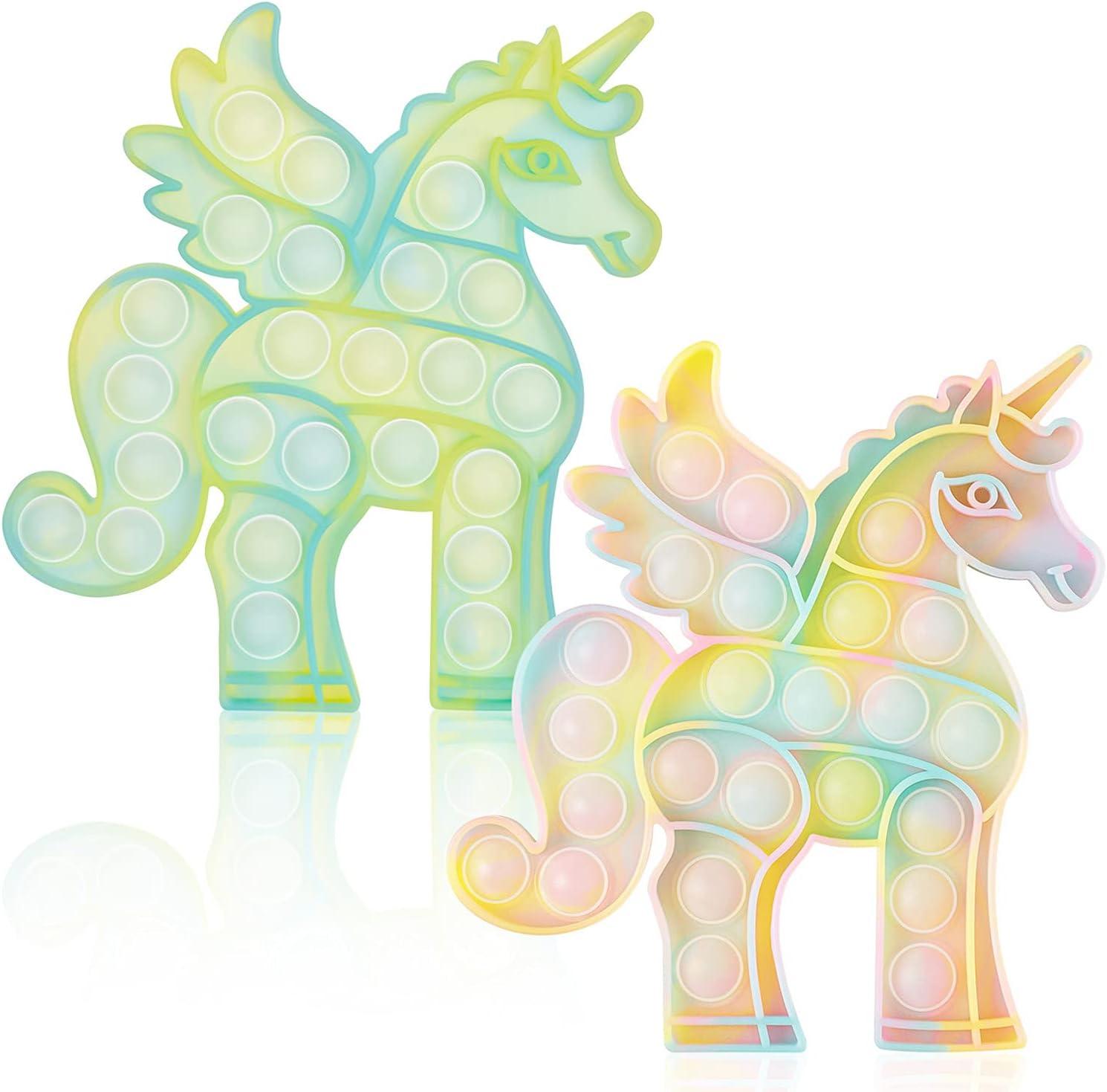 WHATOOK Glow in The Dark Unicorn Pack Toy: Fidget Long Beach Mall Pop Fluoresc 2 Bombing new work