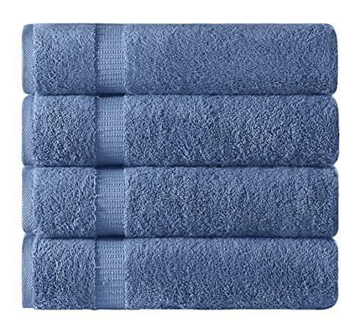 TOWELS BEYOND Juego de 4 toallas de baño Lux, 100 % algodón turco, 70 x 140 cm, para baño y spa,...