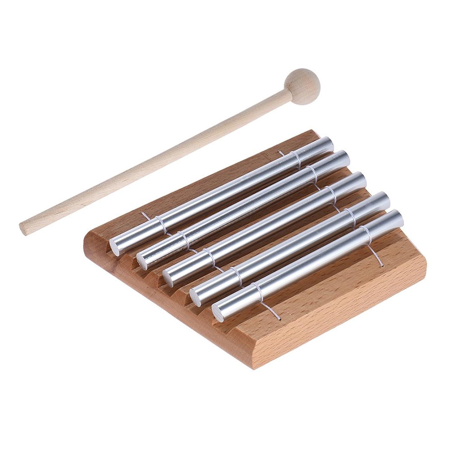 守るご覧ください平野ammoon 5トーン卓上チャイム 教育ミュージカル 玩具打楽器 マレット付き