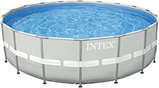 Intex 28336 Ultra Frame Round Pool Full Set, Grey - 18 Ft, 549 x 132 cm