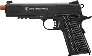 Elite Force 1911 Blowback 6mm BB Pistol Airsoft Gun, Black, 1911 TAC