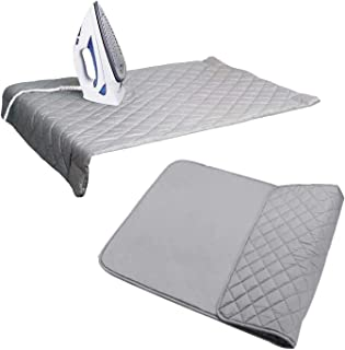 "Houseables Ironing Blanket, Magnetic Mat Laundry Pad, 18.25""x32.5"", Gray, Quilted, Washer Dryer Heat Resistant Pad, Iron B..."