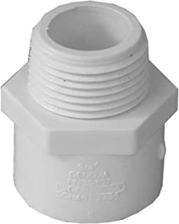 Genova Products 30407CP 3/4-Inch Male Iron Pipe Thread PVC Pipe Adapter Slip by Male Iron Pipe Thread - 10 Pack