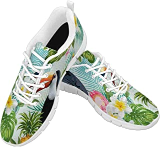 Zenzzle Womens Running Shoes Tropical Flowers and Birds Casual Lightweight Athletic Walking Sneakers Size 6-12