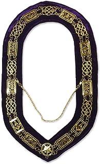 Grand Lodge Masonic Chain Collar with Purple Velvet