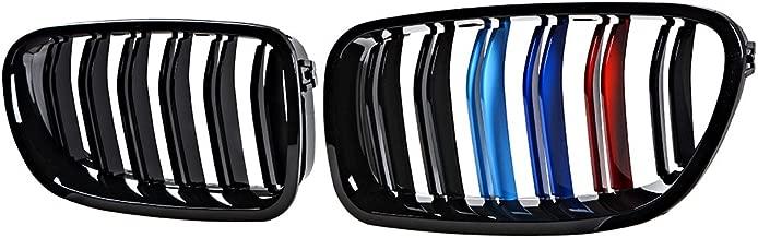 Front Kidney Grill For BMW 10-16 F10 5-Series Sedan 520i, 523i, 525i, 528i, 530i, 535i, 550i ( High Glossy Black + M-color)