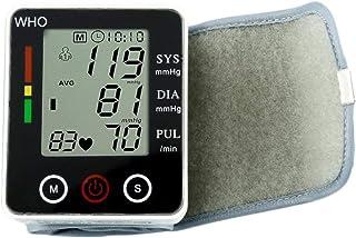 XYJCY Monitor de presión Arterial de muñeca/Monitor de presión Arterial Cuidado en Ancianos Medida de presión Arterial Muñeca Seca Batería Memoria Inteligencia Multifuncional 2.5 * 2.6 * 1.2in
