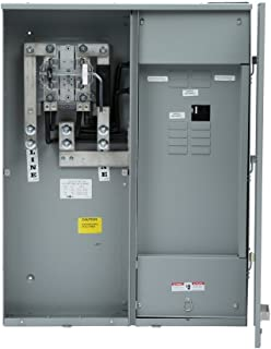 Siemens MC0816B1400SC Meter-Load Center Combination, 8 Space, 16 Circuit, 400-Amp, Main Breaker, Surface Mount Lever Bypass
