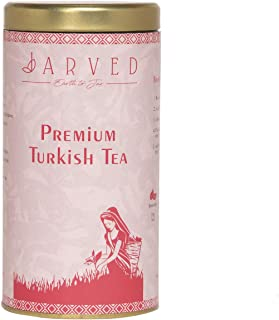 Jarved Premium Turkish Tea Black Tea leaves with Dried Rose Petals, Coconut, Cardamom, Cloves, Black Pepper...