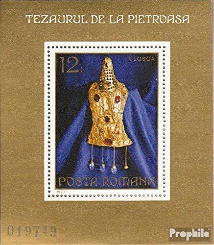 Prophila Collection Rumänien Block107 (kompl.Ausg.) 1973 Goldschatz von Pietroasa (Briefmarken für Sammler)