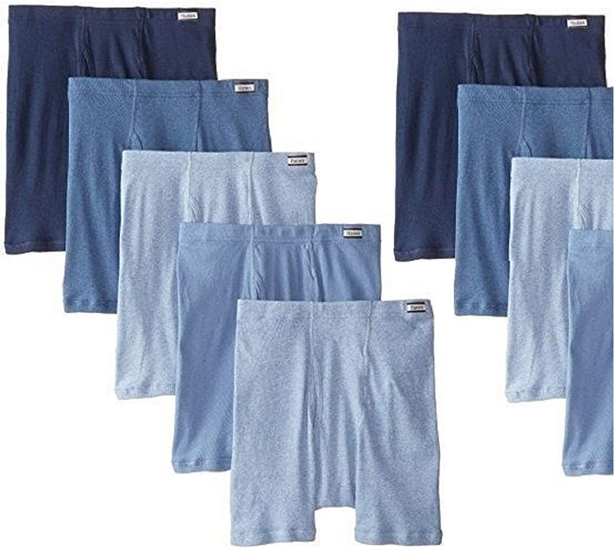 Hanes 9-Pack Men's ComfortSoft Waistband Tagless Boxer Briefs - Assorted Solids/Colors