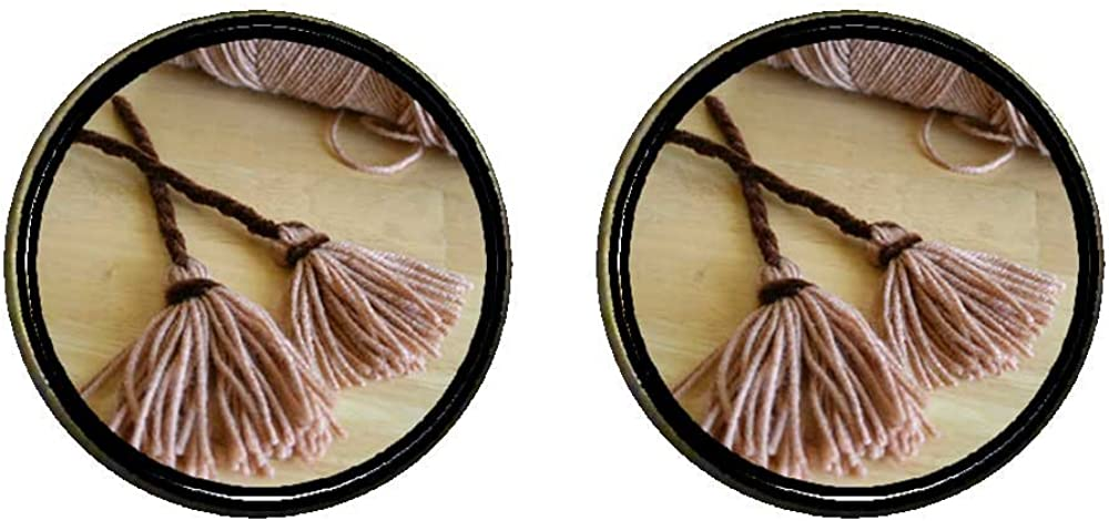 GiftJewelryShop Bronze Retro Style two Halloween witch broomstick Photo Clip On Earrings 14mm Diameter