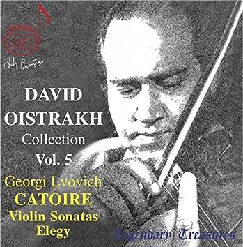 Oistrakh Collection, Vol. 5: Catoire Violin Sonatas
