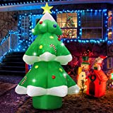 Fashionlite 9ft Christmas Inflatable Xmas Tree with Multicolor Changing LED Lights Yard Decorations, Blow Up Inflatables for Indoor Outdoor Home Garden Family Prop Lawn Decoration, Green