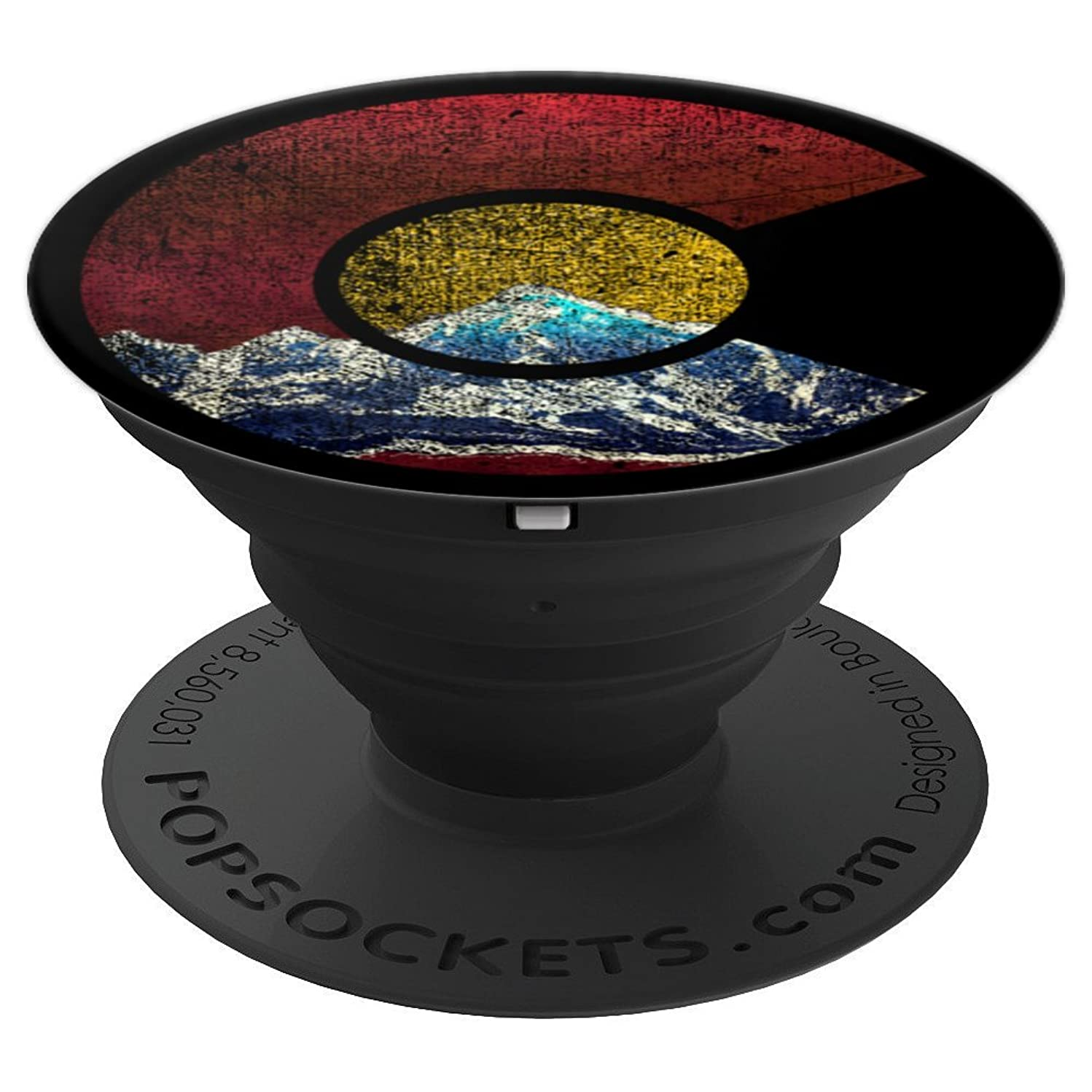 Colorado Flag Mountain Scene - PopSockets Grip and Stand for Phones and Tablets