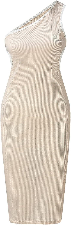 Tsmile Women's Casual Summer T Shirt Dress Loose Sleeveless
