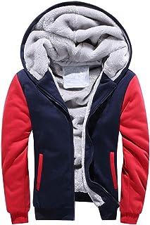 MU2M Mens 3D Leopard Print Hoodie Spliced Pullover Sweatshirt Outwear