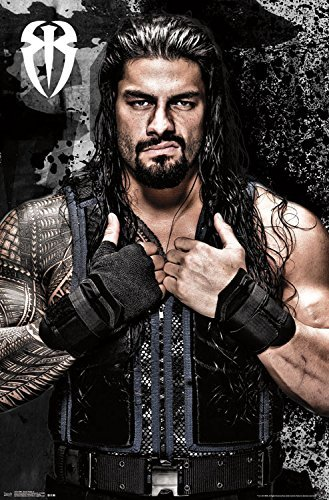Sweetums Signatures WWE Roman Reigns Poster,12x18inch,30x46cm