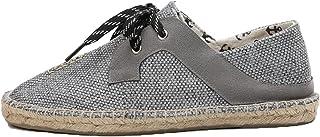 Alpargatas para Hombre, Zapatos de Lona Transpirables con Cordones Retro, Zapatos Casuales Ligeros y Antideslizantes Resis...