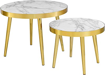 Modway Solana Nesting Tables, Gold