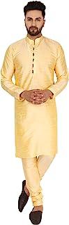SKAVIJ Men's Kurta Pajama Set Party Wear Suit Traditional Dress