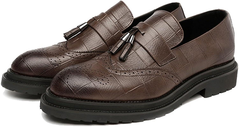 Digga hundben Män's Business skor PU läder läder läder Övre Tassel hängsmycke Slip -on Wingpipt Dekoration Andningsbara Outole Oxfords  handla online idag