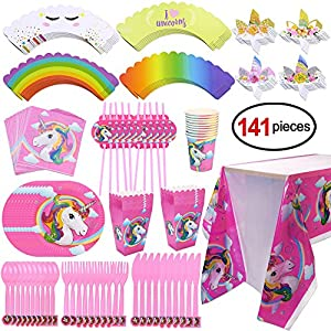 Set de cubiertos de fiesta de cumpleaños de unicornio ...