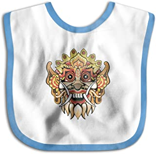 Cute Barong Baby Bib Baby Boys Girls Skin-Friendly Saliva Towel Bib Black