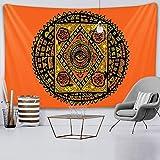 LizaCheng Indian Mandala Psychedélico Escena Home Art Decorative Tapices Hippie Bohemian Sofá Decorativo Sofá Manta Hoja De Colchón De Yoga 1 # 59x90inch Polyester