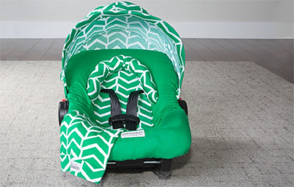 Carseat Canopy Whole Caboodle Jersey Stretch - Ezra