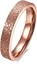 Romantic Fate Western Pop Fashion Popular 18K Rose Gold Plated Dull Polish Lady Stainless Steel Ring