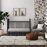 Little Seeds Monarch Hill Ivy Black Metal Baby Crib